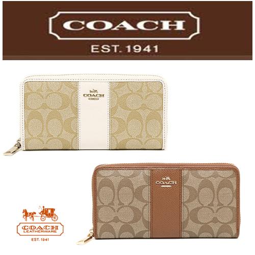 【即発◆3-5日着】COACH◆Signature/レザー長財布◆F52859 2色